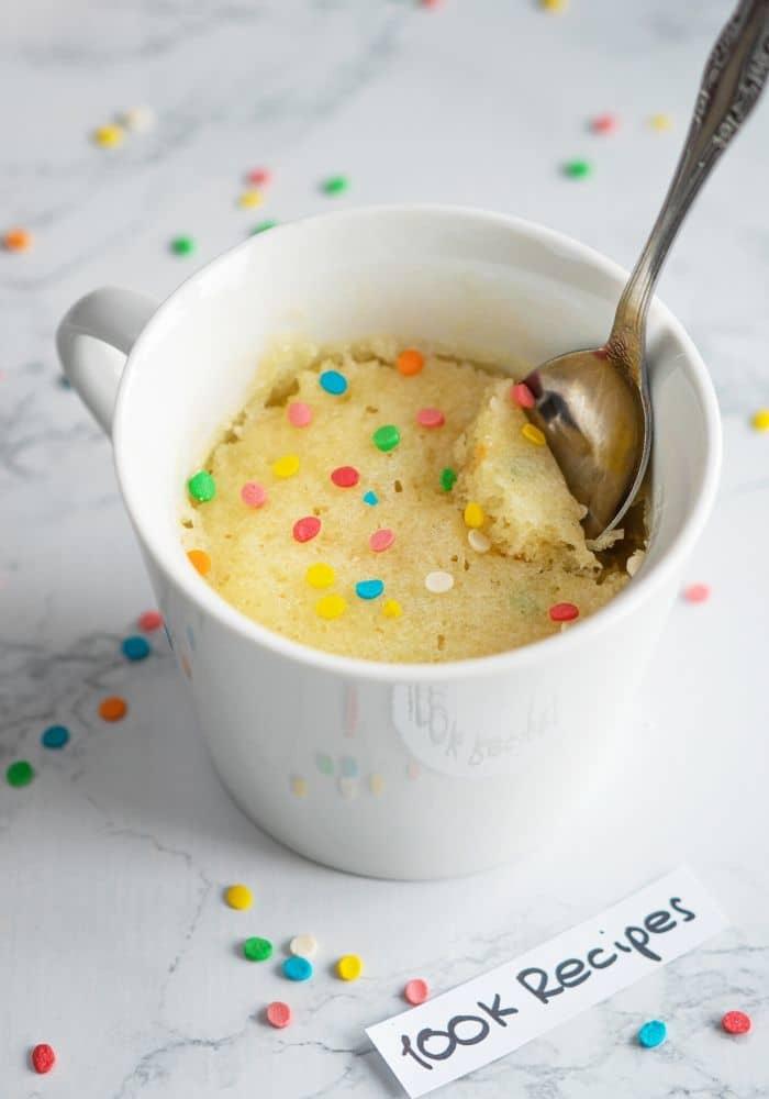 Microwave Vanilla Mug Cake Recipe 100krecipes