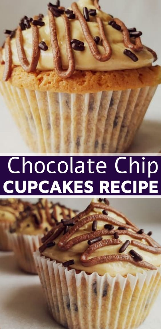 Easy Peanut Butter Chocolate Chip Cupcakes