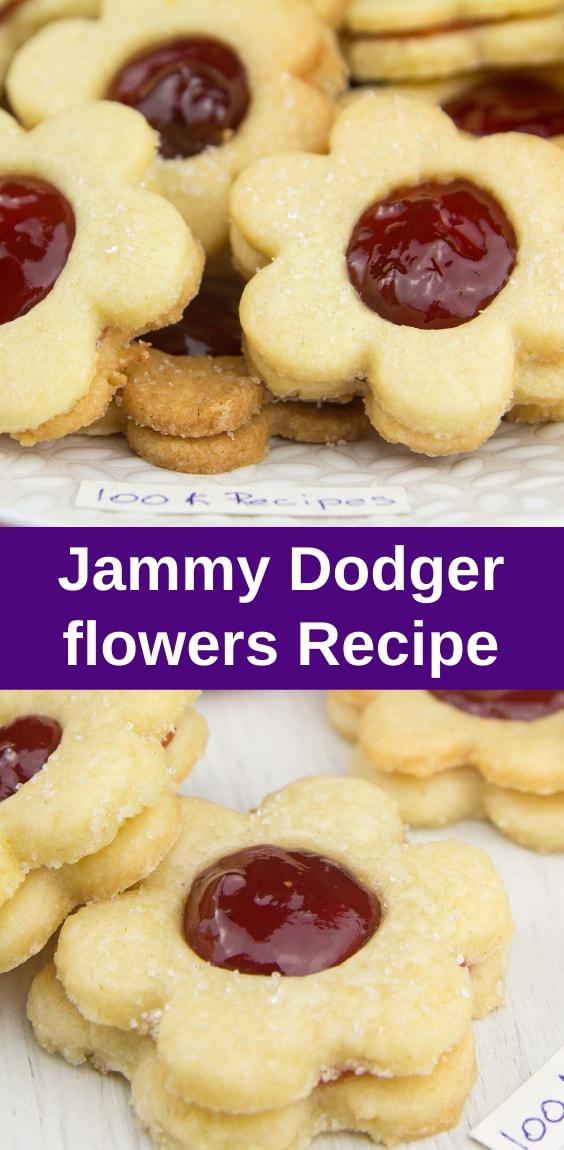 Jammy dodger flowers