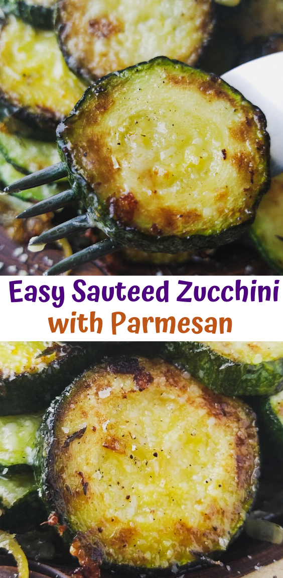 Easy Sauteed Zucchini with Parmesan