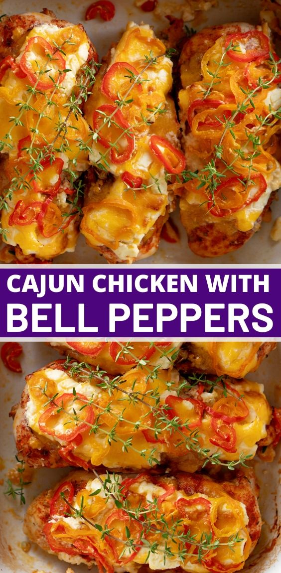 CAJUN CHICKEN WITH BELL PEPPERS