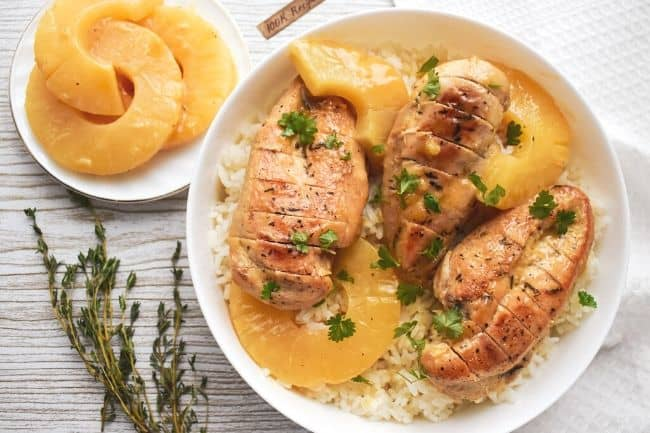 How to Make Easy Baked Pineapple Chicken and Rice Recipe