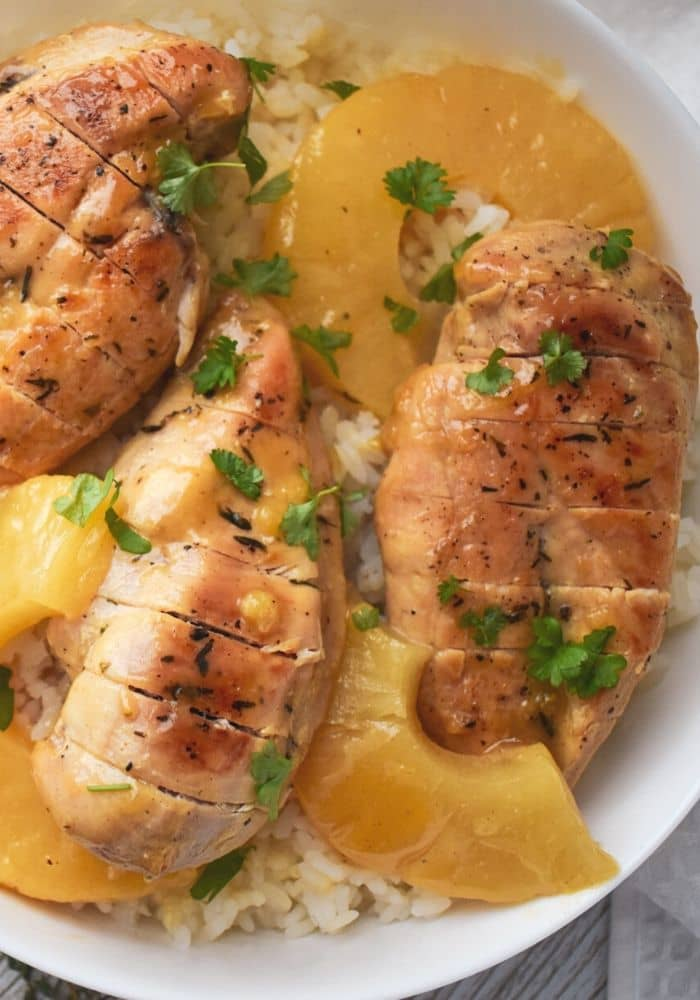 Baked Pineapple Chicken and Rice Recipe
