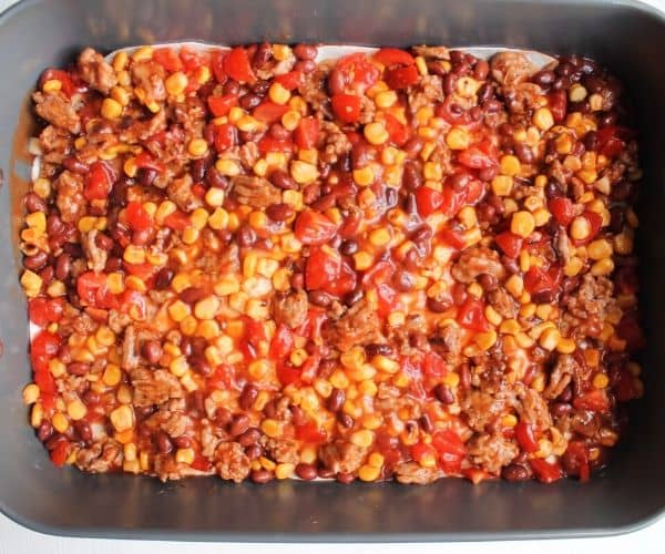 How to make easy Ground Beef enchilada casserole recipe