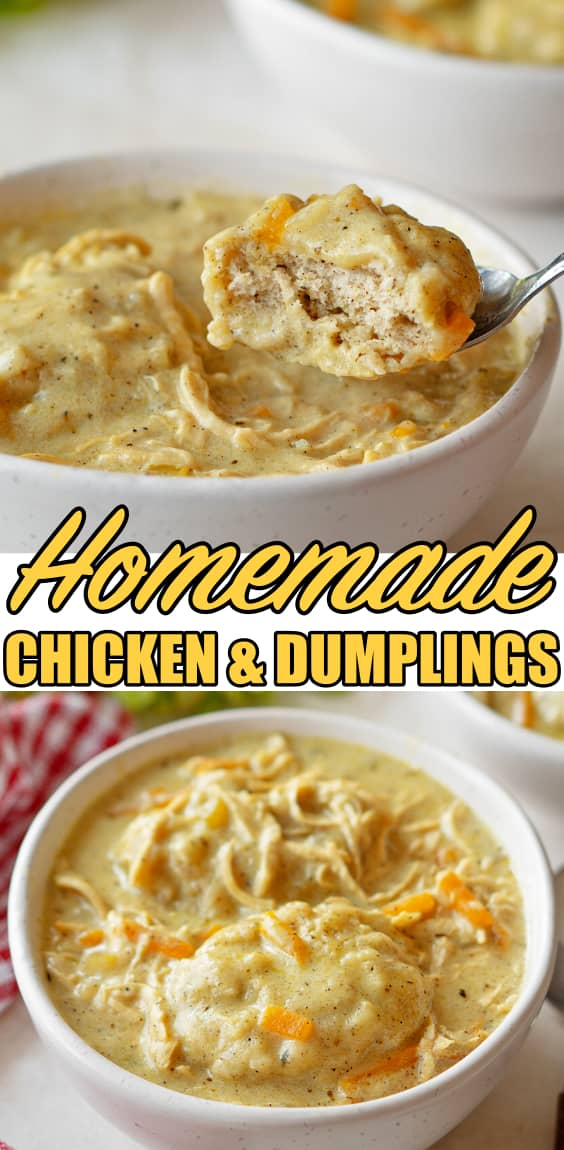 EASY HOMEMADE CHICKEN AND DUMPLINGS RECIPE