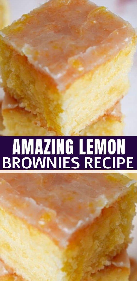 AMAZING LEMON BROWNIES