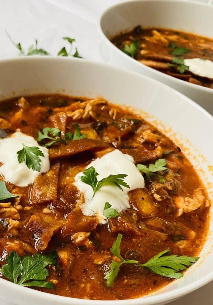 Authentic Chicken Tortilla Soup