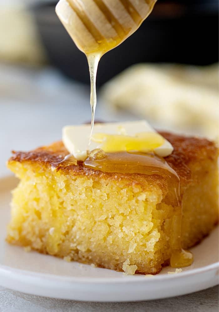 Sweet and Moist Honey Cornbread