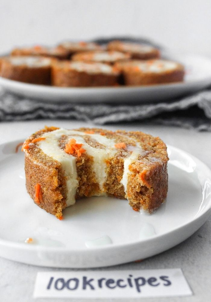 Carrot Cake Roll with Cream Cheese Frosting Filling