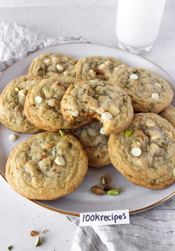 Amazing White Chocolate Chip Pistachio Cookies