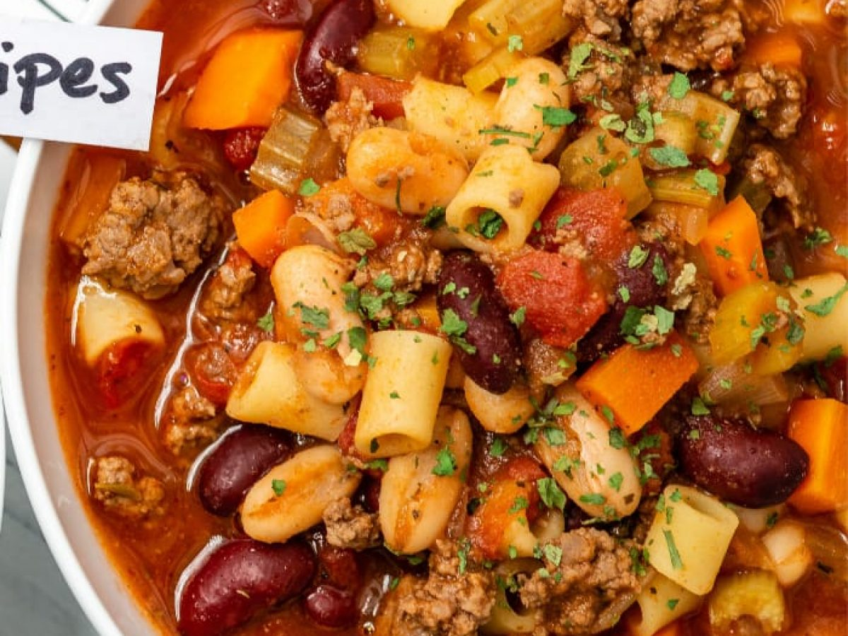 30 Minutes} Copycat Olive Garden Pasta e Fagioli Recipe