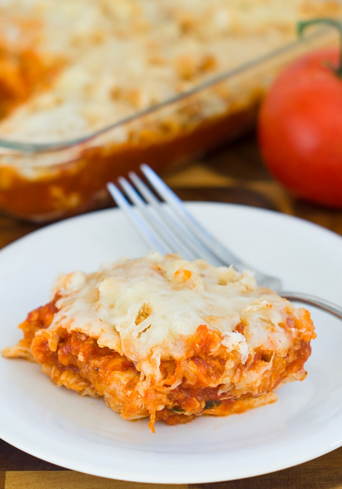 Easy Chicken Parmesan Casserole from Cleo Coyle