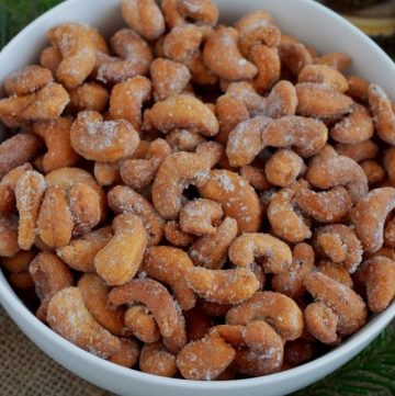 Recipe for honey roasted cashew nuts