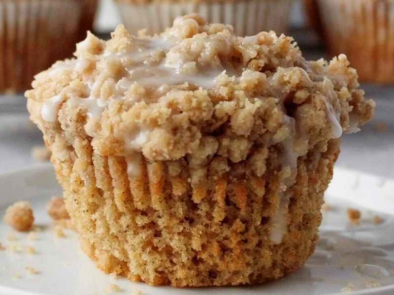 Easy Coffee Cake Muffins With Crumble Topping