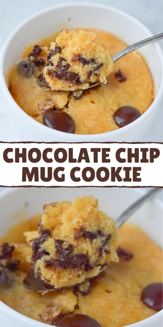 1-MINUTE CHOCOLATE CHIP MUG COOKIE