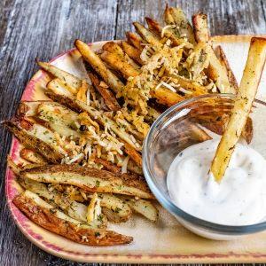 Oven Baked Parmesan & Garlic Fries Recipe