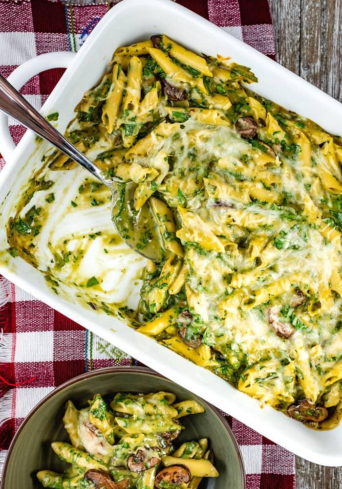 Portobello Penne Pasta Casserole