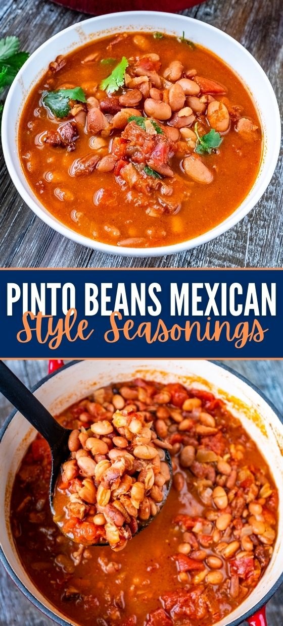 PINTO BEANS WITH MEXICAN STYLE SEASONINGS