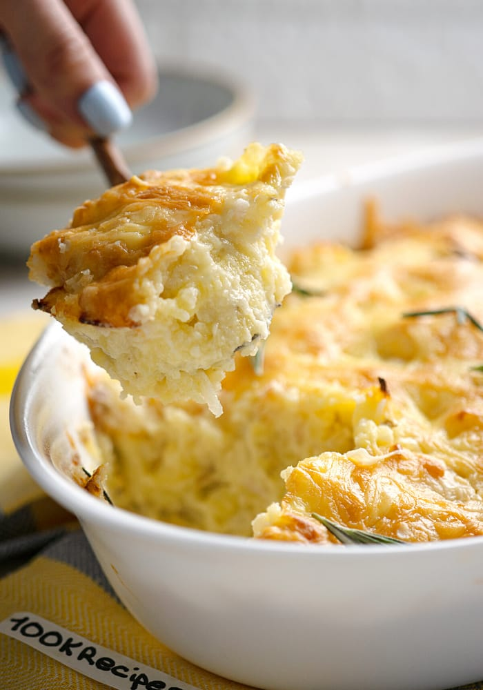 Potatoes Romanoff with cheese