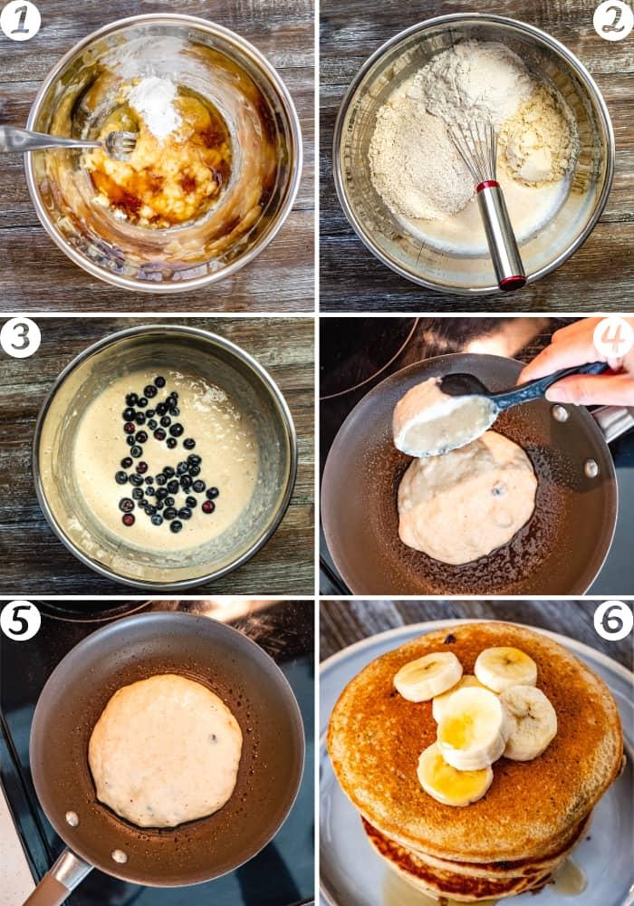 vegan pancakesa with lmond flour