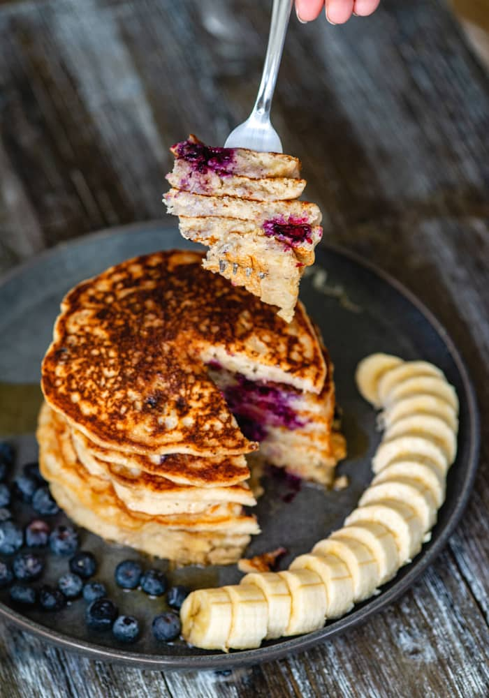 oat flour pancakes vegan