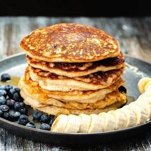 Fluffy Vegan Banana Oat Pancakes