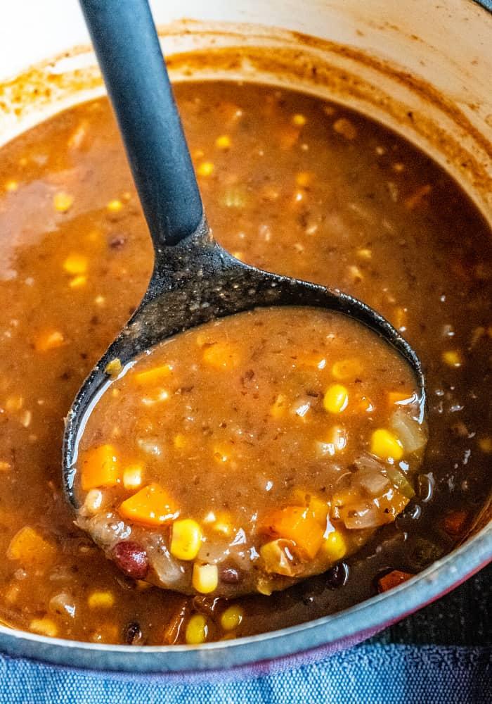 Easy Vegan Black Bean Soup Recipe | (From Scratch)