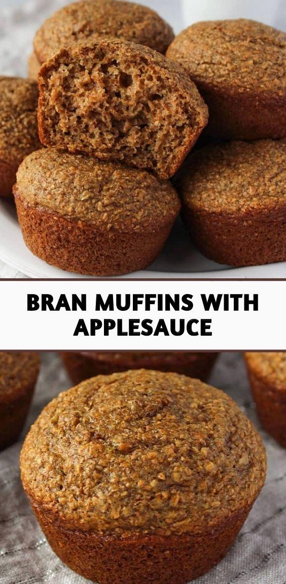Bran Muffins with Applesauce