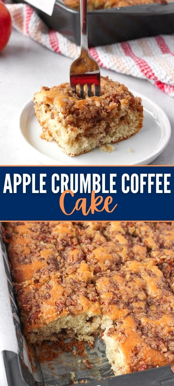 Moist Apple Crumble Coffee Cake