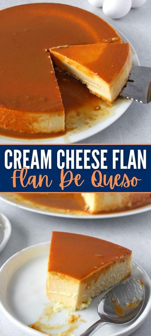 Flan de Queso (Homemade Cream Cheese Flan)