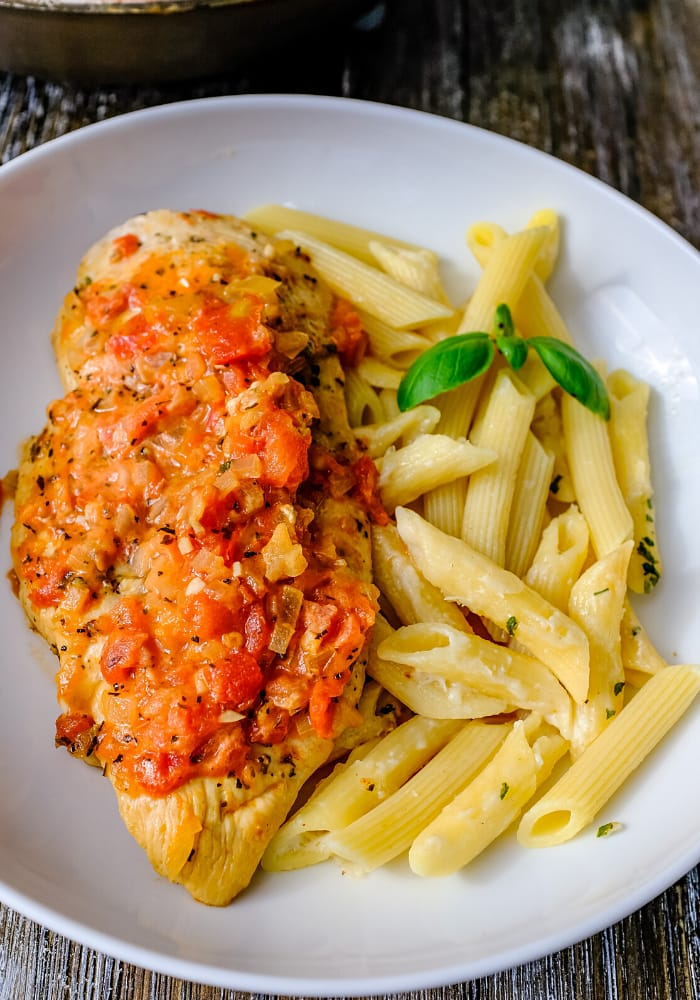Chicken pomodoro with creamy tomato sauce