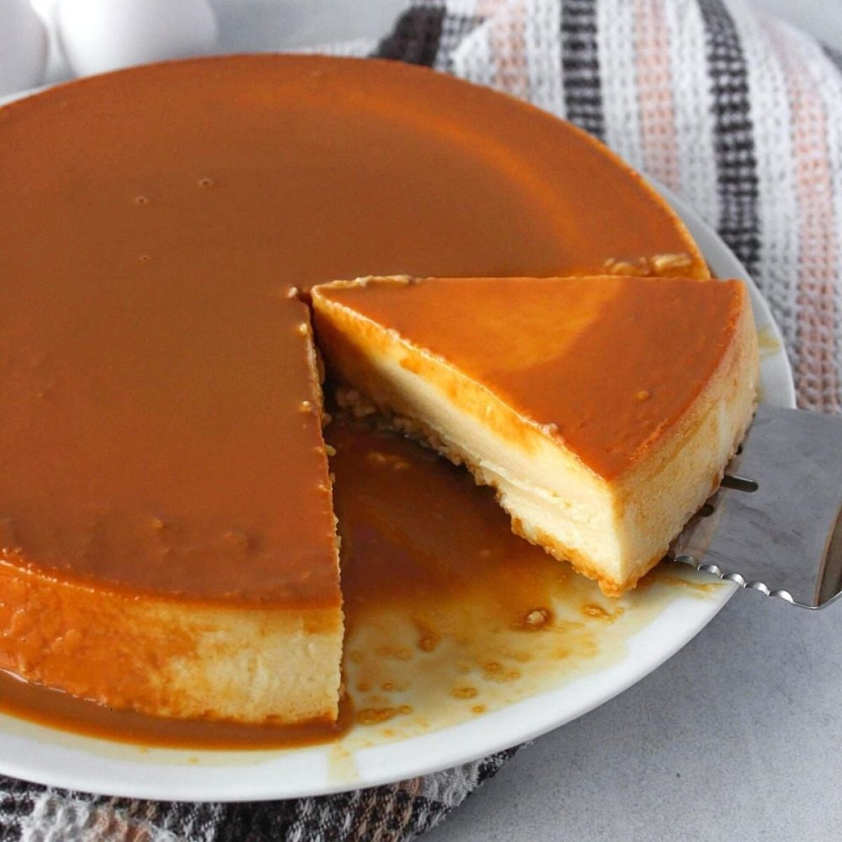 Flan De Queso Homemade Cream Cheese Flan Recipe