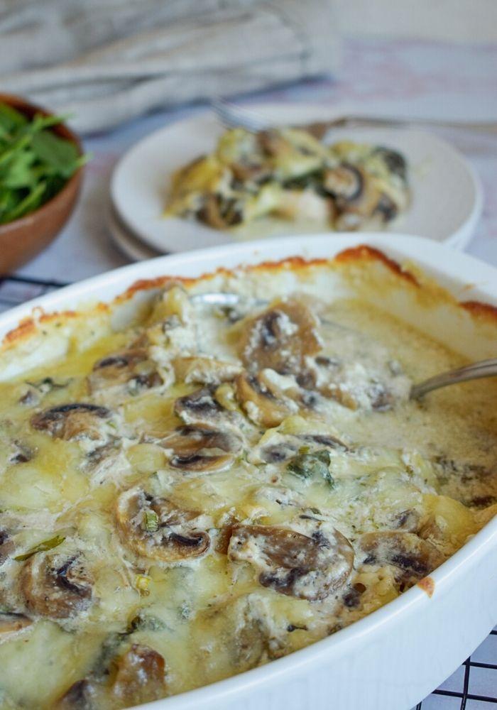 Chicken spinach and mushroom