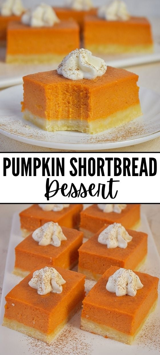 Pumpkin Shortbread Squares Recipe