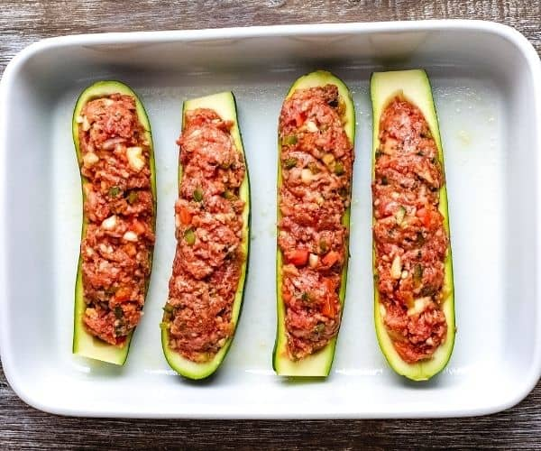 Stuffed zucchini casserole