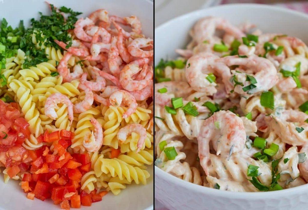 AMAZING shrimp pasta salad