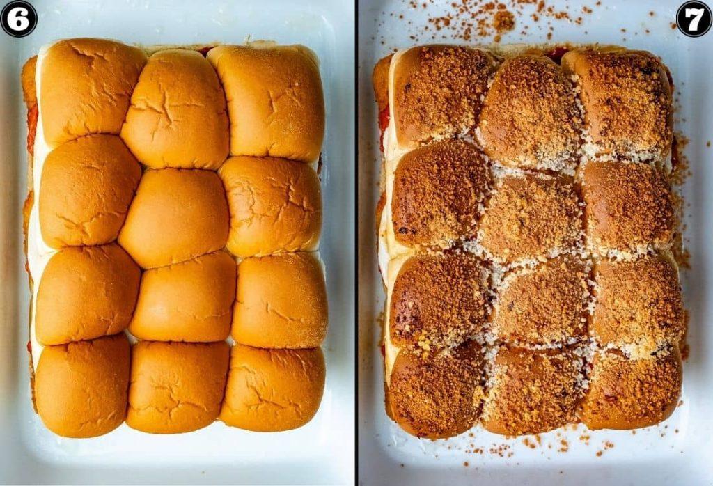 Delicious Chicken Parmesan Slider Bake