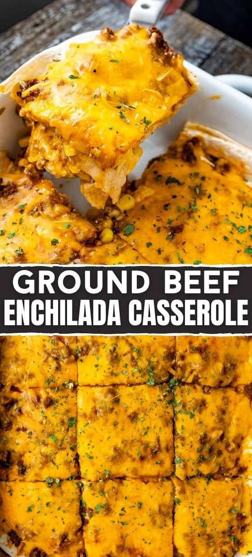 Easy Ground Beef Enchilada Casserole