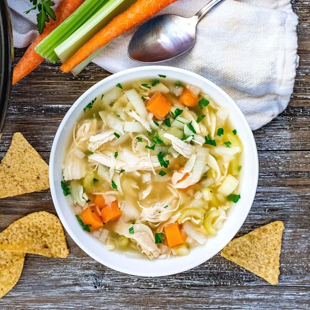 Homemade Crockpot Chicken Noodle Soup
