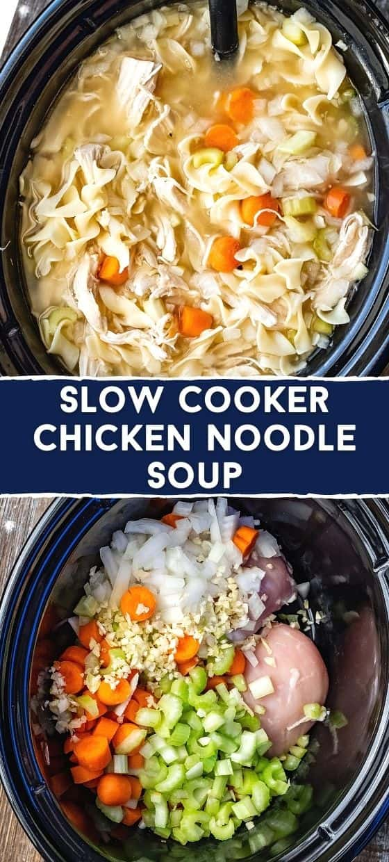 Homemade Crockpot Chicken Noodle Soup