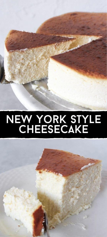 Homemade New York Style Cheesecake