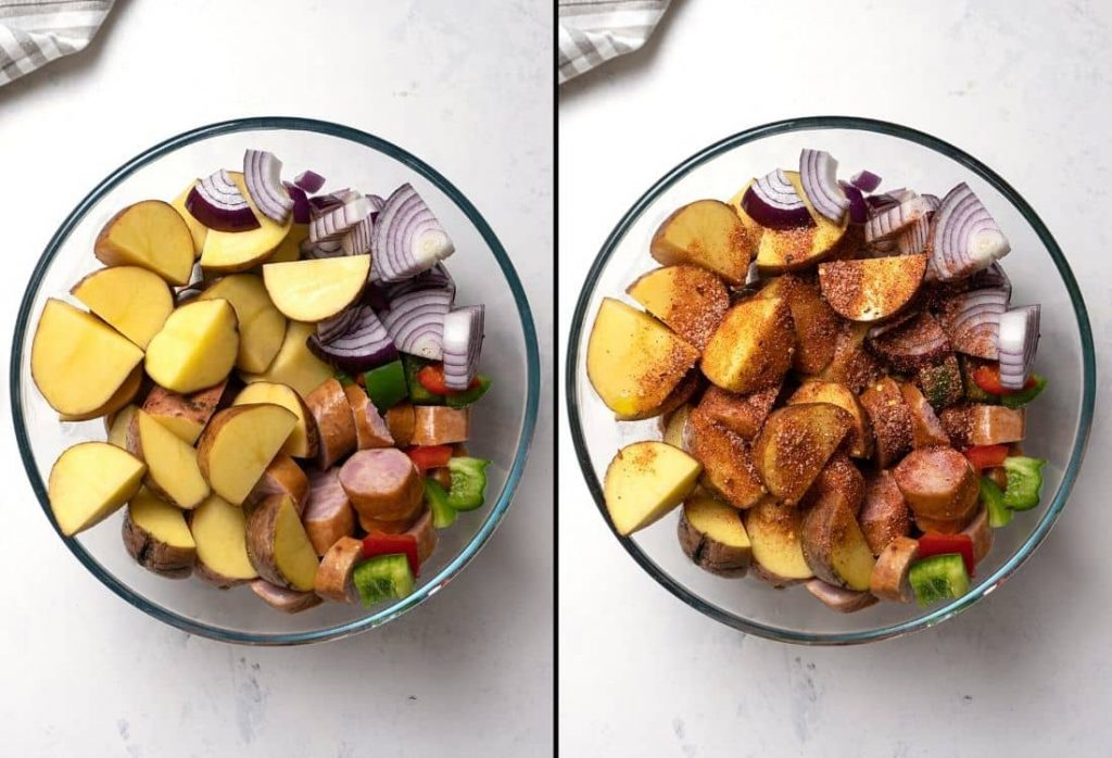Oven-Roasted Smoked Sausage & Potatoes
