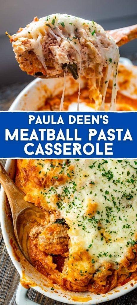 PAULA DEEN'S MEATBALL PASTA CASSEROLE