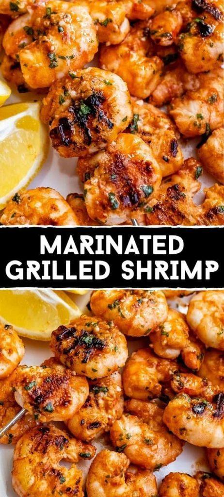 BEST MARINATED GRILLED SHRIMP