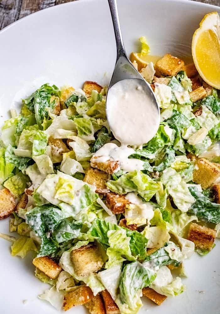 Homemade Creamy Caesar Salad Dressing