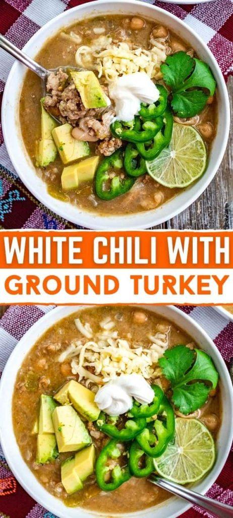 WHITE CHILI WITH GROUND TURKEY