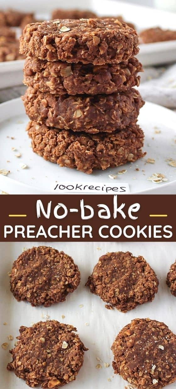 No Bake Preacher Cookies (Healthy!)